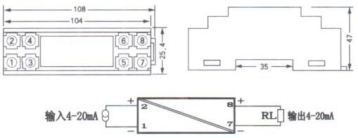产品库 智能控制 电气连接 信号隔离/转换 hs-xhgl-wy 无源信号隔离器